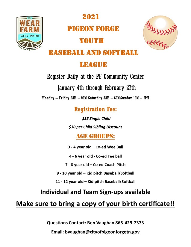 Youth Baseball Softball 2021